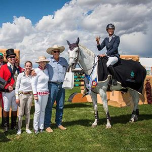 Kentucky-Performance-Products-sponsored-rider-Jenni-Martin-McAllister-and-her-lovely-gray-mare-Legis-Venice-win-the-Charity-Grand-Prix-de-Santa-Fe