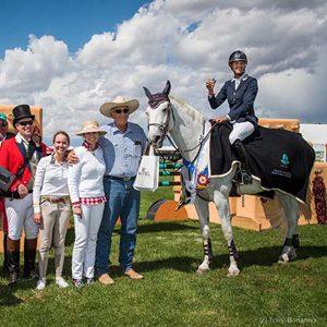 Kentucky-Performance-Products-sponsored-rider-Jenni-Martin-McAllister-and-her-lovely-gray-mare-Legis-Venice-win-the-Charity-Grand-Prix-de-Santa-Fe